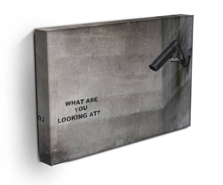 Banksy CCTV What Are You Looking at Print - Canvas Art Rocks - 3