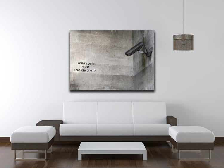 Banksy CCTV What Are You Looking at Print - Canvas Art Rocks - 4