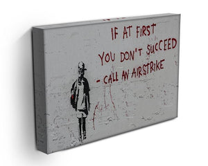 Banksy Call An Airstrike Canvas Print or Poster - Canvas Art Rocks - 3