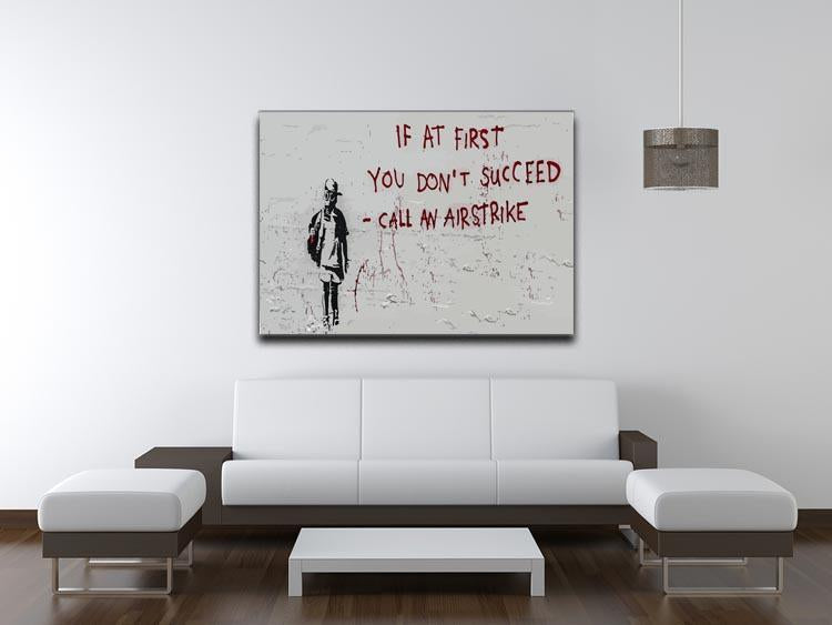 Banksy Call An Airstrike Canvas Print or Poster - Canvas Art Rocks - 4
