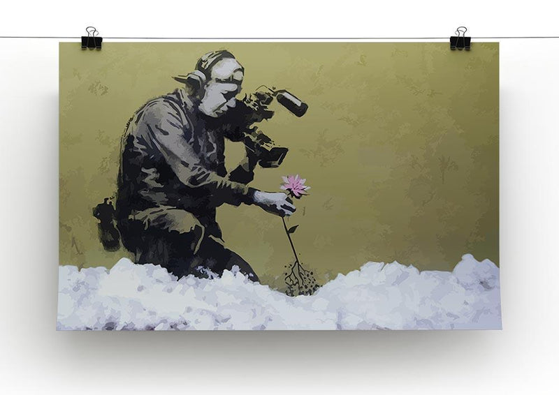 Banksy Cameraman and Flower Canvas Print or Poster - Canvas Art Rocks - 2