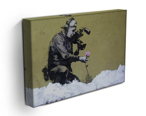 Banksy Cameraman and Flower Canvas Print or Poster - Canvas Art Rocks - 3