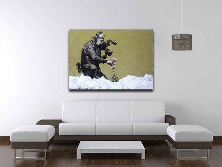 Banksy Cameraman and Flower Canvas Print or Poster - Canvas Art Rocks - 4