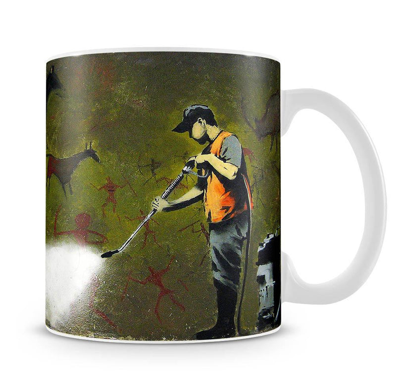 Banksy Cave Graffiti Removal Cup - US Canvas Art Rocks