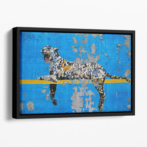 Banksy Cheetah Floating Framed Canvas