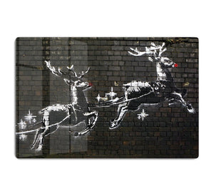Banksy Christmas HD Metal Print - Canvas Art Rocks - 1