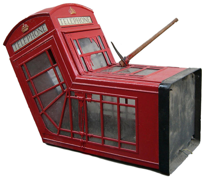 Banksy Death Of A Phone Box Wall Decal - US Canvas Art Rocks