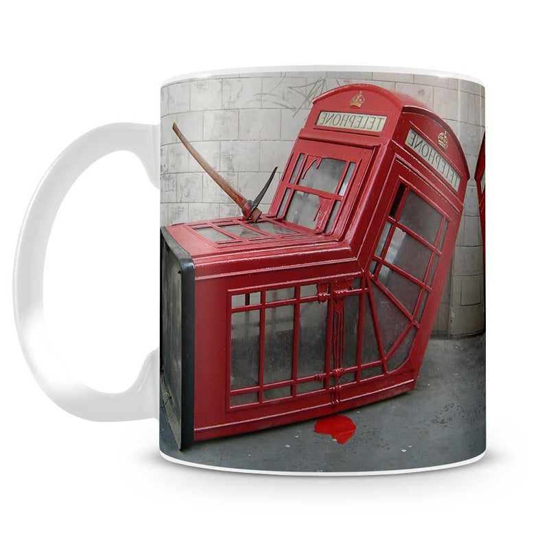 Banksy Death of a Phone Booth Cup - US Canvas Art Rocks