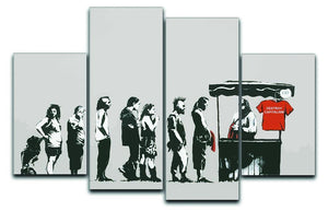Banksy Destroy Capitalism 4 Split Panel Canvas  - Canvas Art Rocks - 1