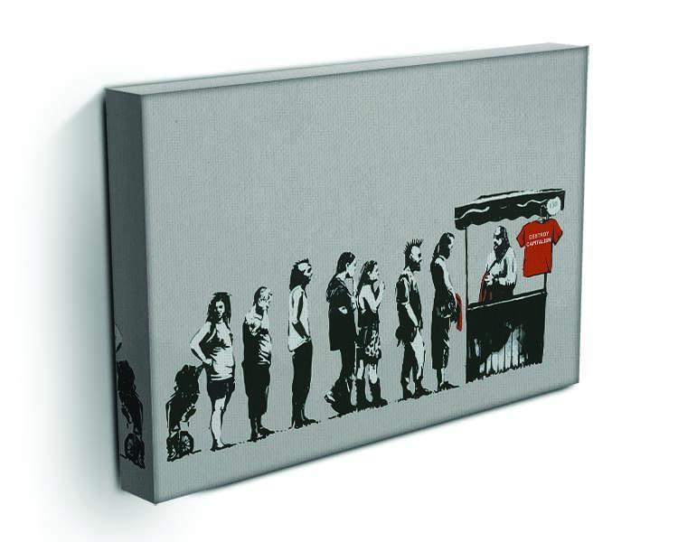 Banksy Destroy Capitalism Canvas Print or Poster - Canvas Art Rocks - 3