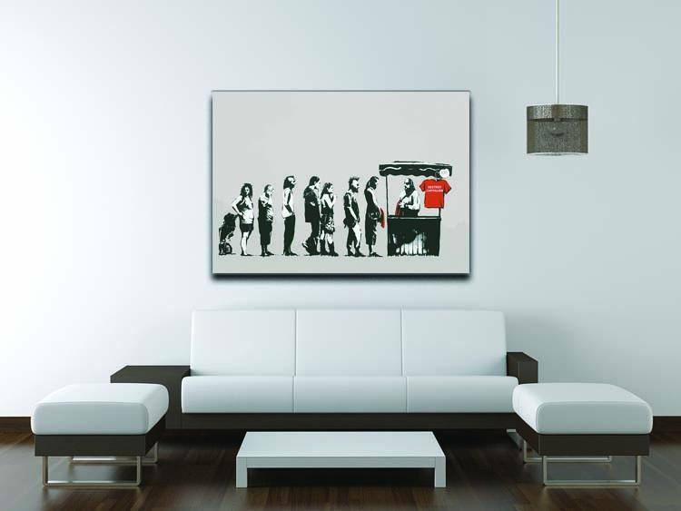 Banksy Destroy Capitalism Canvas Print or Poster - Canvas Art Rocks - 4