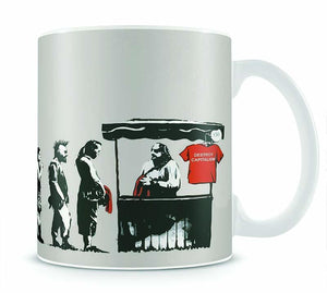 Banksy Destroy Capitalism Mug - Canvas Art Rocks - 1