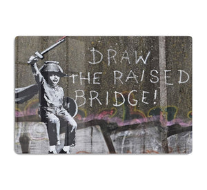 Banksy Draw The Raised Bridge HD Metal Print