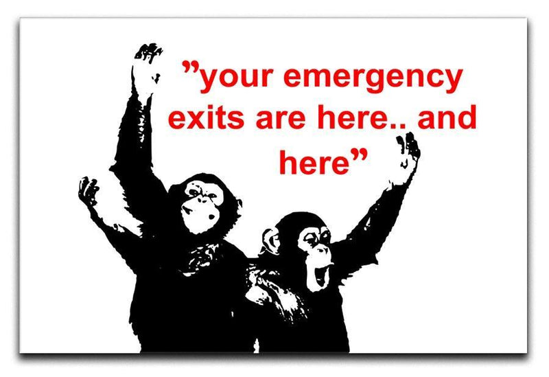 Banksy Emergency Exits Canvas Print or Poster  - Canvas Art Rocks - 1