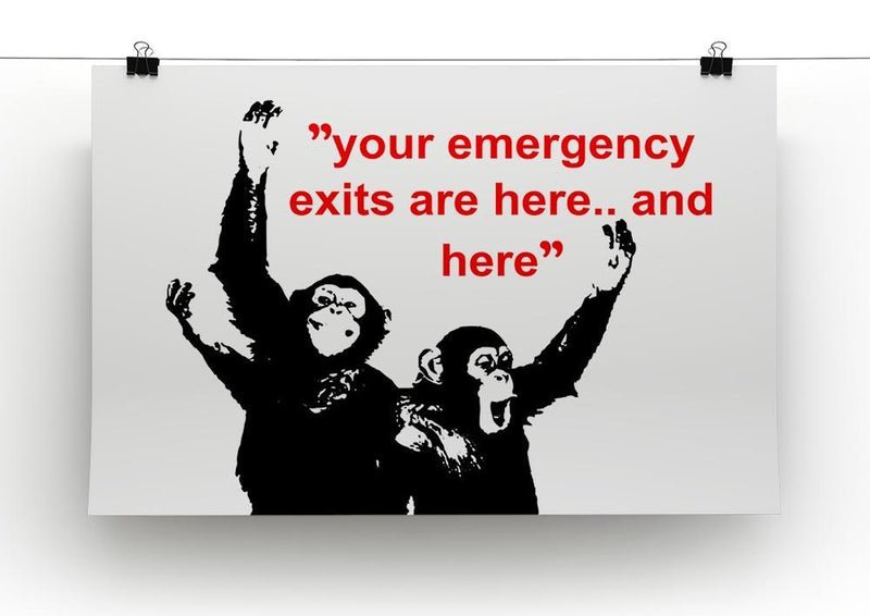 Banksy Emergency Exits Canvas Print or Poster - Canvas Art Rocks - 2