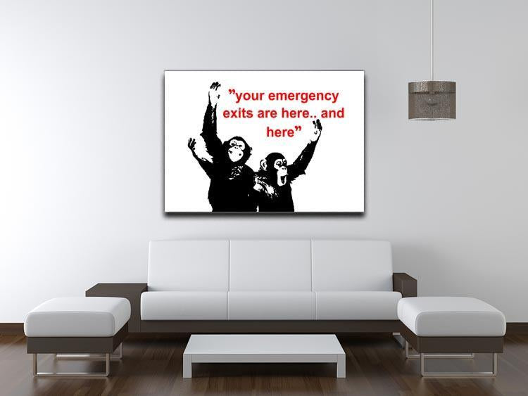Banksy Emergency Exits Canvas Print or Poster - Canvas Art Rocks - 4