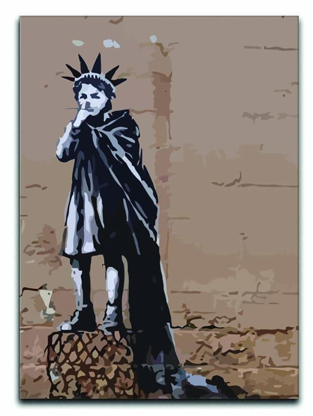 Banksy Empire State Kid Canvas Print or Poster  - Canvas Art Rocks - 1
