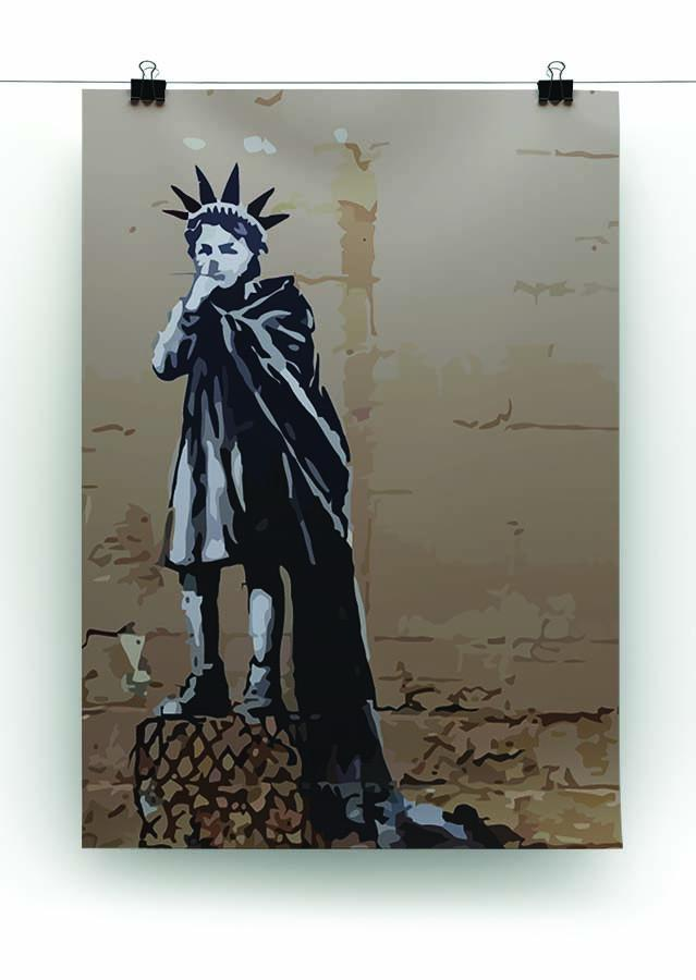 Banksy Empire State Kid Canvas Print or Poster - Canvas Art Rocks - 2