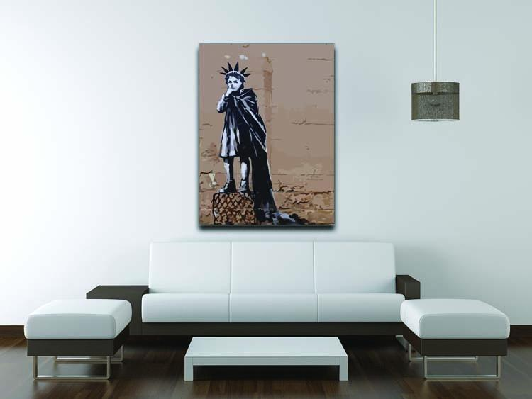 Banksy Empire State Kid Canvas Print or Poster - Canvas Art Rocks - 4