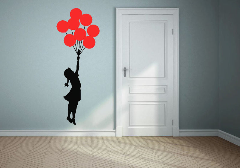 Banksy Flying Balloon Girl Wall Decal - US Canvas Art Rocks