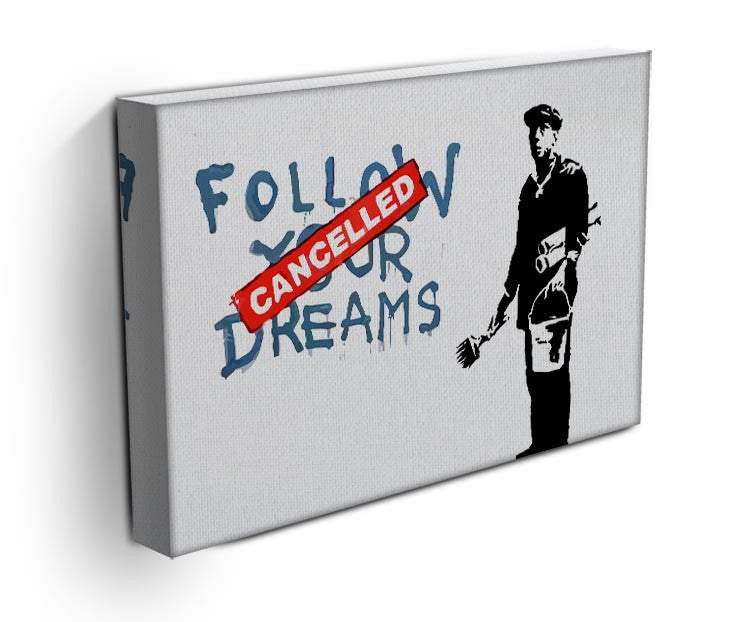 Banksy Follow Your Dreams - Cancelled Print - Canvas Art Rocks - 3