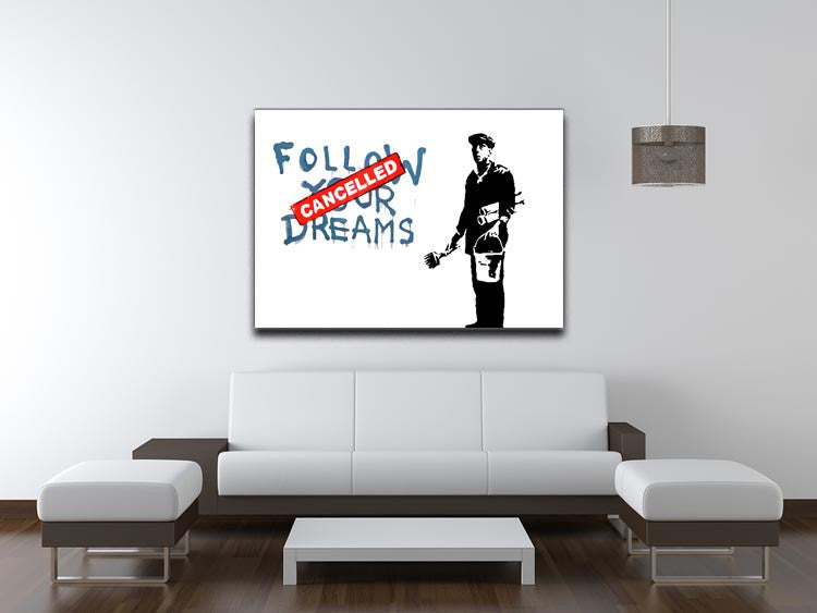 Banksy Follow Your Dreams - Cancelled Print - Canvas Art Rocks - 4