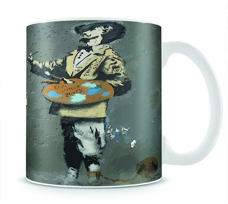 Banksy French Painter Cup - Canvas Art Rocks - 1