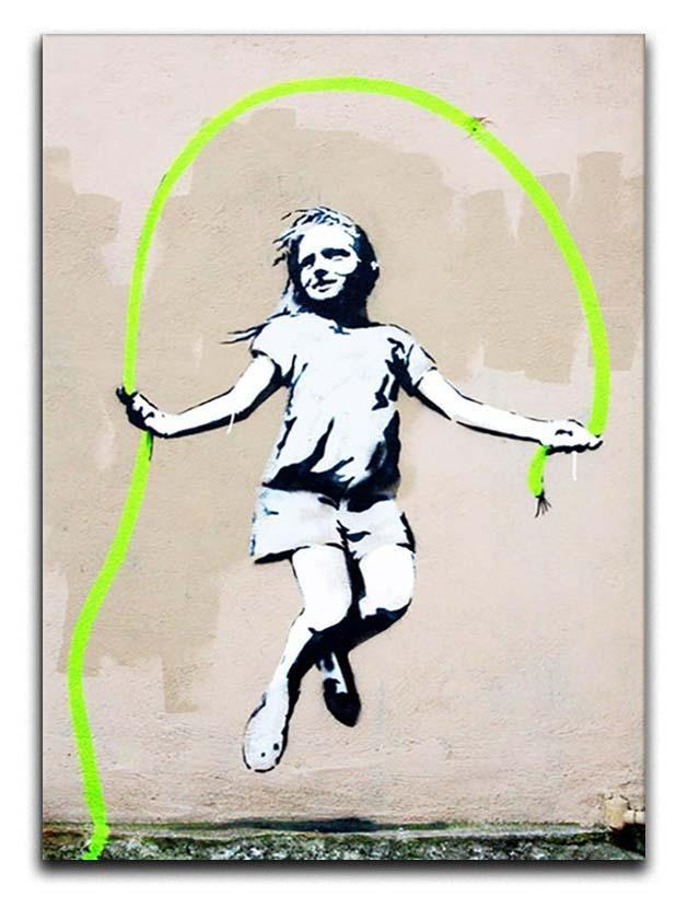Banksy Girl With Skipping Rope Canvas Print or Poster  - Canvas Art Rocks - 1