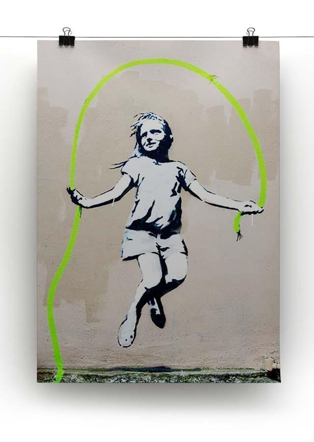 Banksy Girl With Skipping Rope Canvas Print or Poster - Canvas Art Rocks - 2