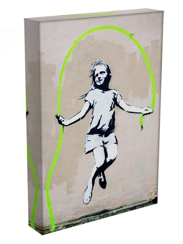 Banksy Girl With Skipping Rope Canvas Print or Poster - Canvas Art Rocks - 3