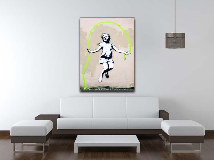 Banksy Girl With Skipping Rope Canvas Print or Poster - Canvas Art Rocks - 4