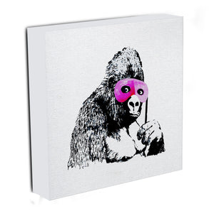 Banksy Gorilla in Pink Mask Canvas Print & Poster - US Canvas Art Rocks