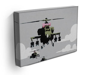 Banksy Friendly Helicopters Print - Canvas Art Rocks - 3