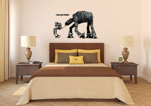 Banksy I Am Your Father Wall Decal - US Canvas Art Rocks