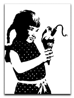 Banksy Ice Cream Bomb Canvas Print or Poster  - Canvas Art Rocks - 1