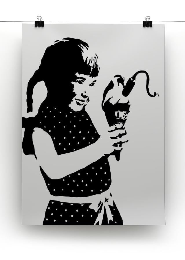 Banksy Ice Cream Bomb Canvas Print or Poster - Canvas Art Rocks - 2