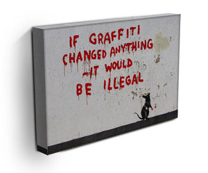 Banksy If Graffiti Changed Anything Print - Canvas Art Rocks - 3