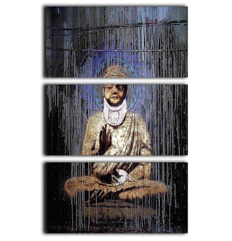 Banksy Injured Buddha 3 Split Panel Canvas Print - Canvas Art Rocks - 1