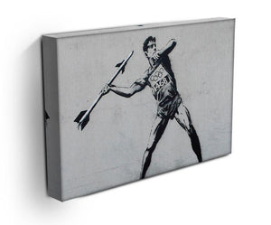 Banksy Javelin Thrower Print - Canvas Art Rocks - 3
