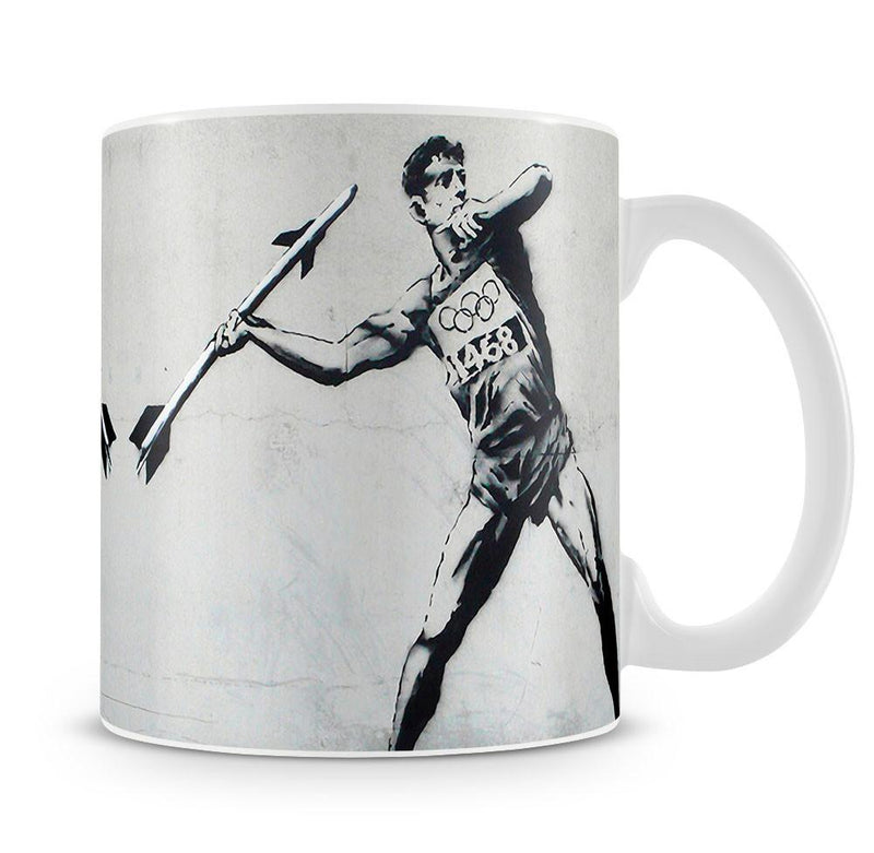 Banksy Javelin Thrower Cup - US Canvas Art Rocks