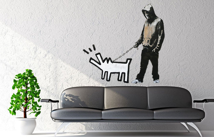 Banksy Keith Haring Dog Wall Sticker