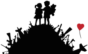 Banksy Kids On Gun Hill Wall Decal - US Canvas Art Rocks