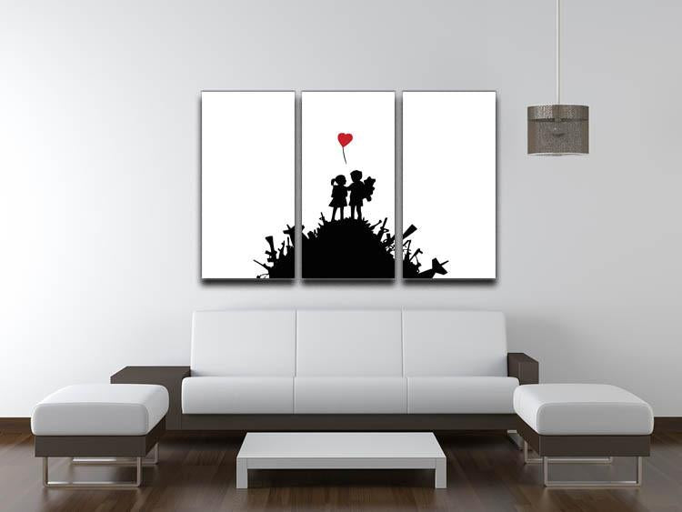 Banksy Kids on Gun Hill 3 Split Canvas Print - US Canvas Art Rocks