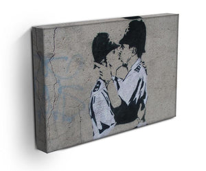 Banksy Kissing Policemen Print - Canvas Art Rocks - 3