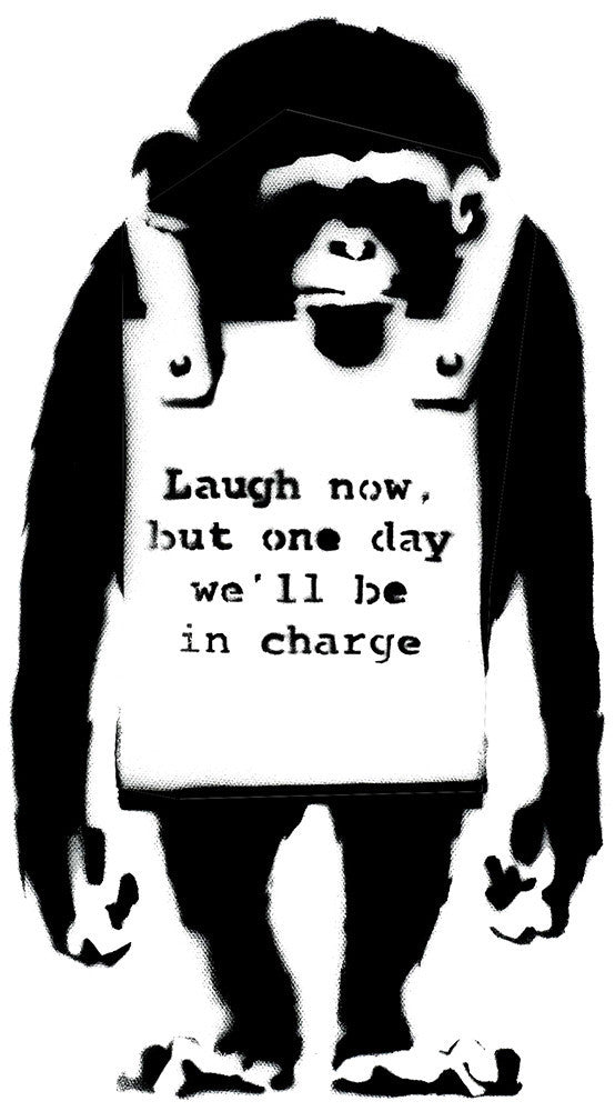 Banksy Laugh Now Wall Decal Wall Decal - US Canvas Art Rocks