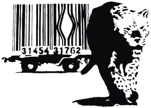 Banksy Leopard Barcode Wall Decal - US Canvas Art Rocks