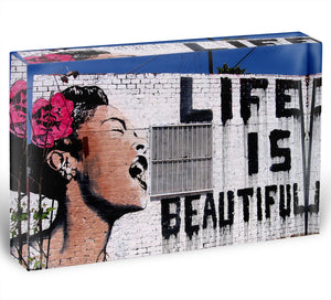 Banksy Life is Beautiful Acrylic Block