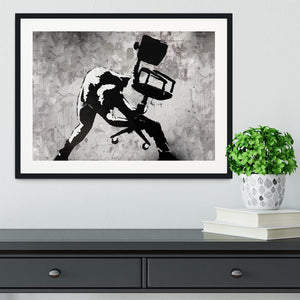 Banksy London Calling Framed Print - Canvas Art Rocks - 1