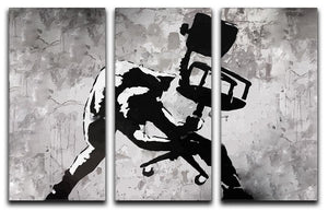 Banksy London Calling 3 Split Panel Canvas Print - Canvas Art Rocks