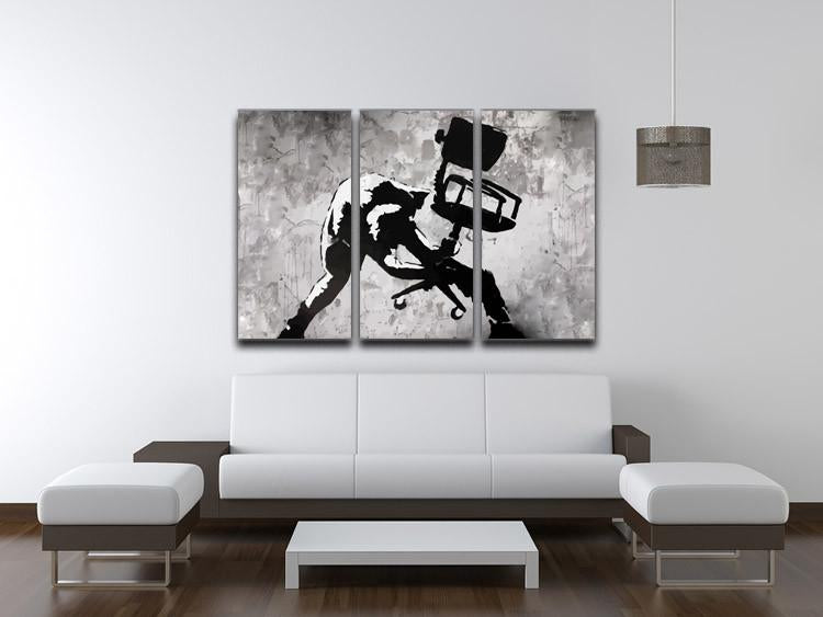 Banksy London Calling 3 Split Panel Canvas Print - US Canvas Art Rocks